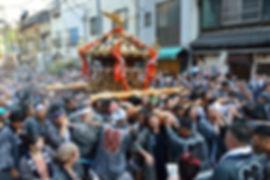 月島四之部町会神輿@住吉神社大祭