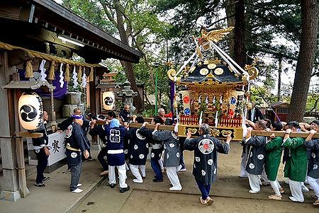 中原日枝神社 保存会40周年記念渡御