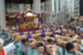 群馬県藤岡市藤岡 諏訪神社神輿 日本橋渡御
