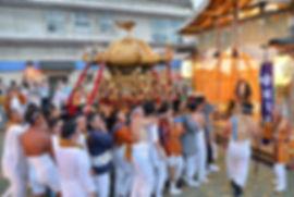 新潟県十日町市辰甲 諏訪神社神輿@お仮屋