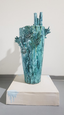 Vase céramique corail