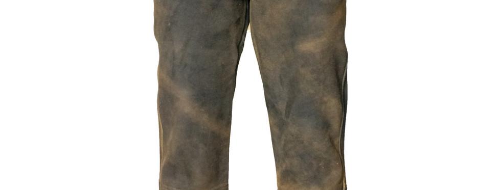 Leder-Jeans