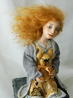 the girl with teddy bear