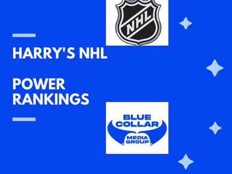 Harry's NHL Power Rankings