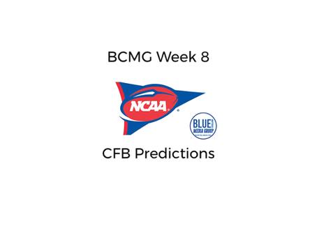 BCMG Week 8 CFB Predictions