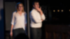 "Katie Hammond, Daniel Tepper, ""What Town? The Musical"", musical improv"