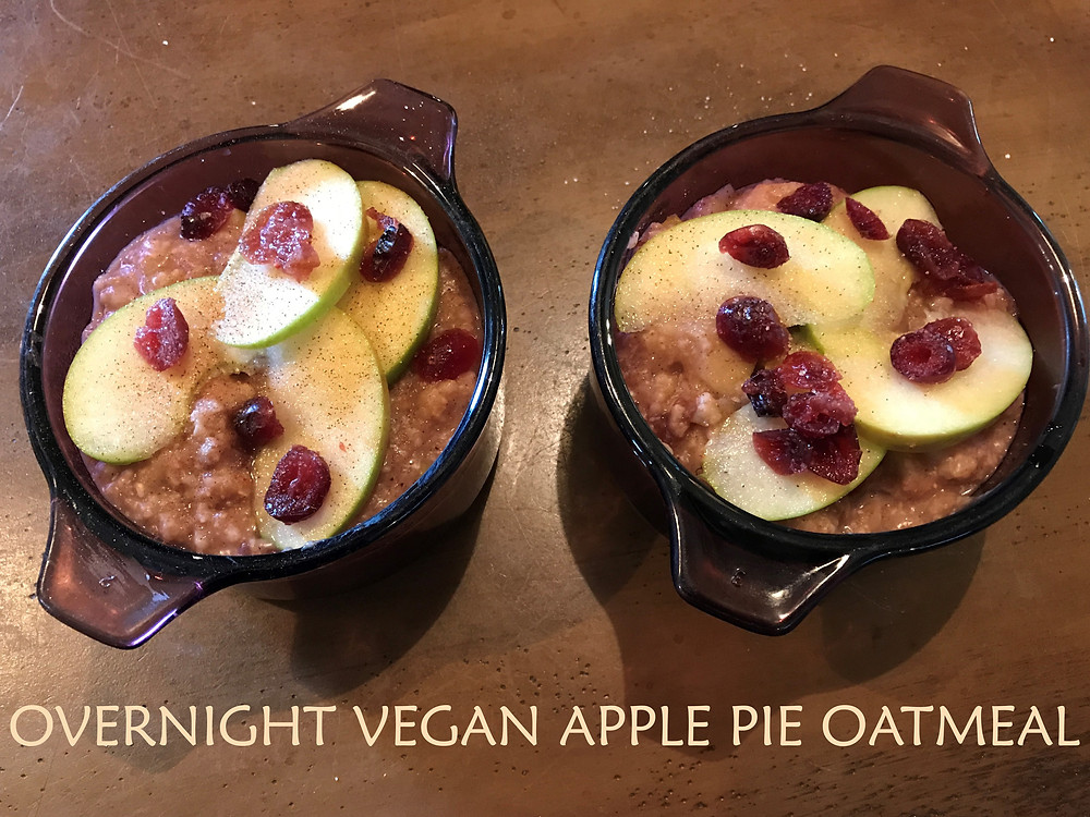 Apple Pie Oatmeal with Cranberries