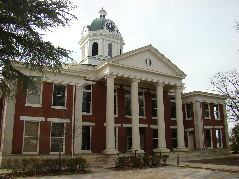 Back view of the historic Stephen's County Court House