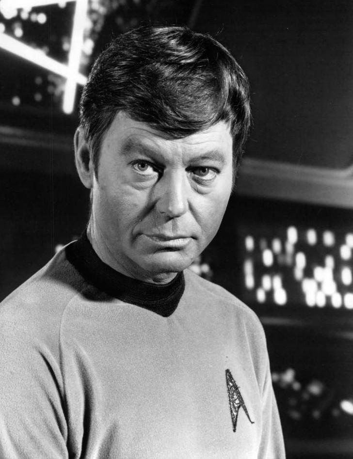 Jackson DeForest Kelley in his Star Trek uniform