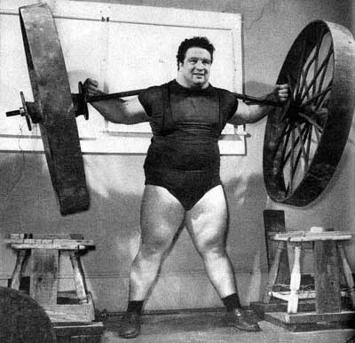 Paul Anderson lifting weights