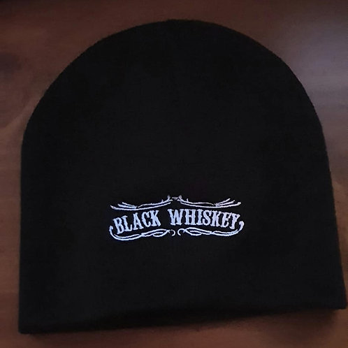 Black Whiskey Beanie - Embroidered