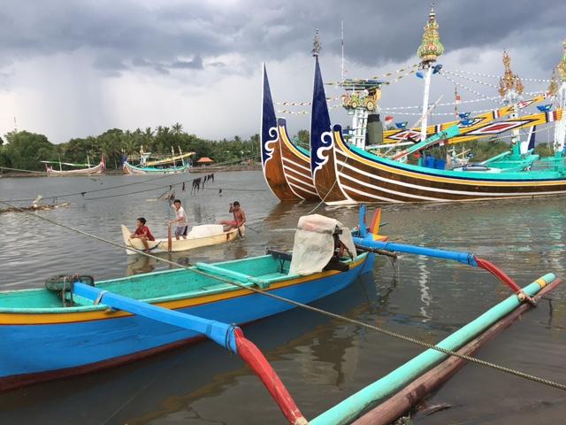 Fishing boats at Perancak