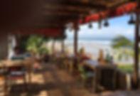 restaurant at balian beach at balian in west bali, bali off the beaten track