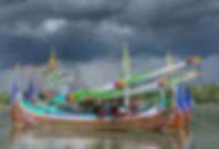 fishing boats at perancak near negara in west bali, bali off the beaten track