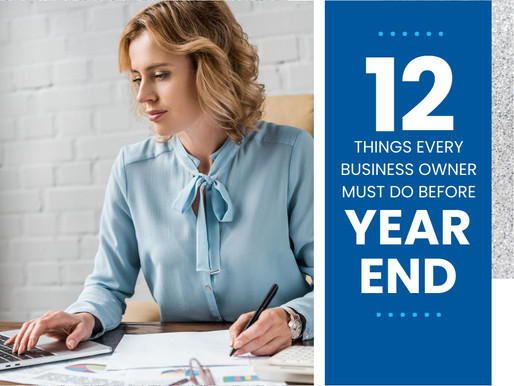 12 Things Every Small Business Owner Should Do Before Year End