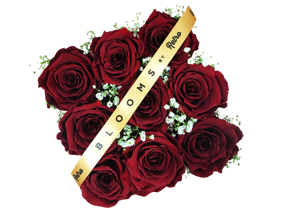 Blooms by Retro | 9 Forever rose box