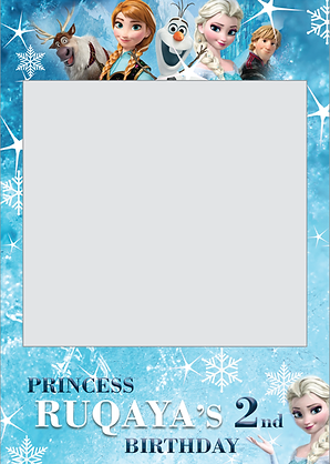 a disney frozen themed frame with a personalised caption on the bottom - Disney Frozen Picture Frames