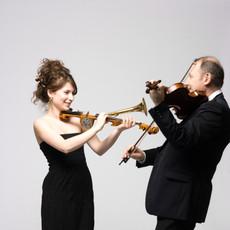 Avec le violoniste Efim Zoubritski
