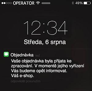 Notifikační SMS