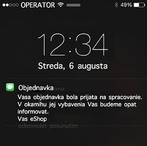 Notifikačné SMS
