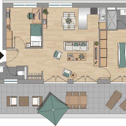 3-Zimmer-Penthaus