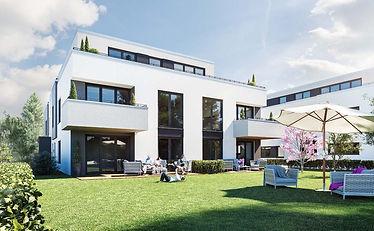 Gartenansicht Villa 21 Mainz-Bretzenheim