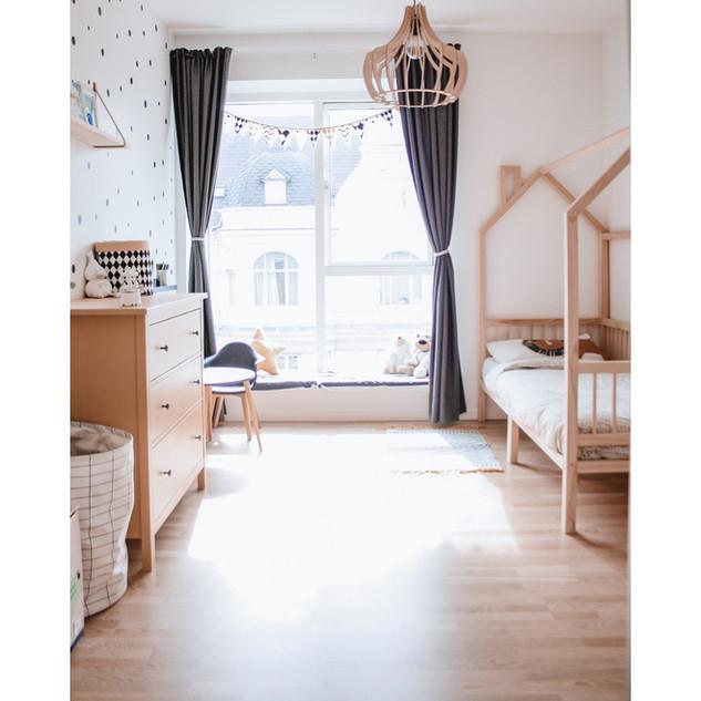 kid bedroom scandinavian interior