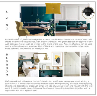 Colour scheme 2 - Teal and yellow interior