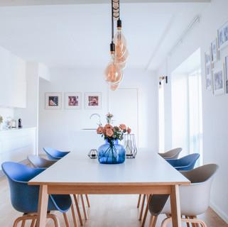 Minimalist white kitchen in Scandinavian style