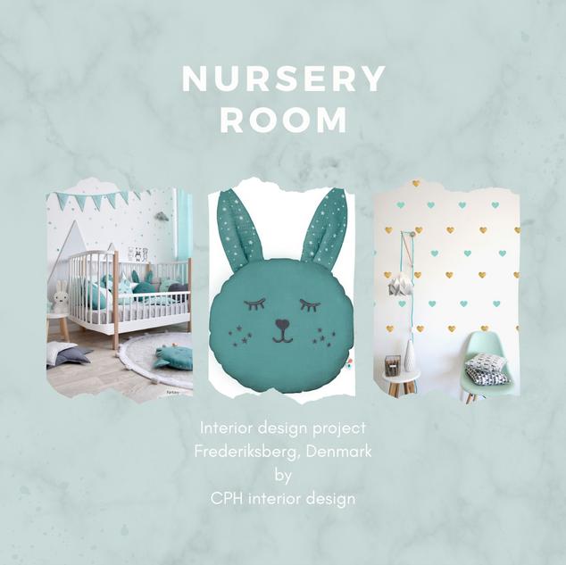 nursery room mood board interior