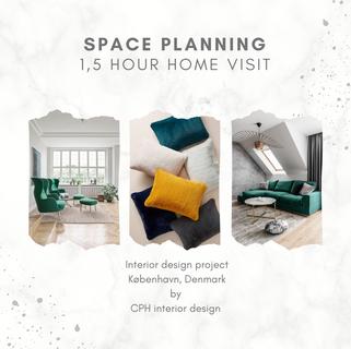 Home visit (1.5 h) - Space planning & colour scheme