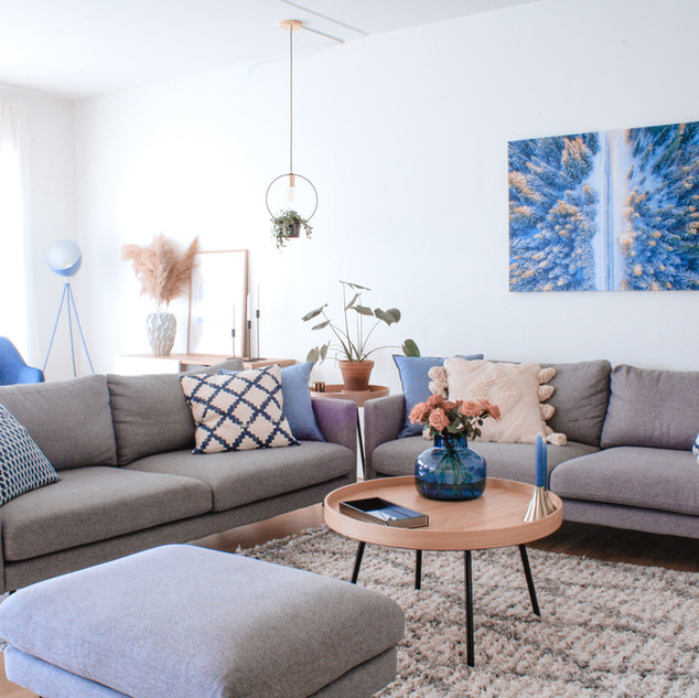 scandinavian living interior
