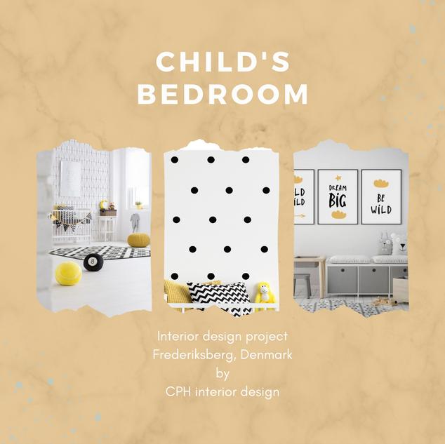 Child bedroom moodboard
