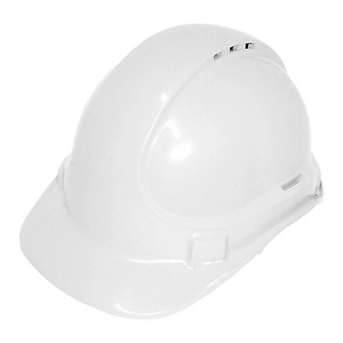 White Vented Construction Hard Hat