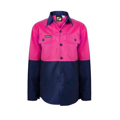 Kids Pink Lightweight L/S Shirt