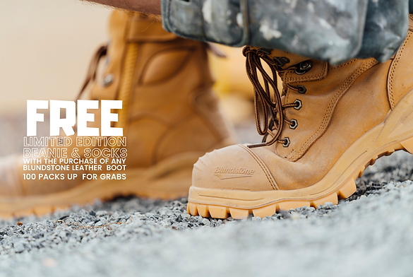 WITH THE PURCHASE OF ANY BLUNDSTONE LEAT