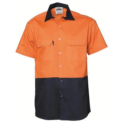 Short Sleeve Cotton Drill Shirt