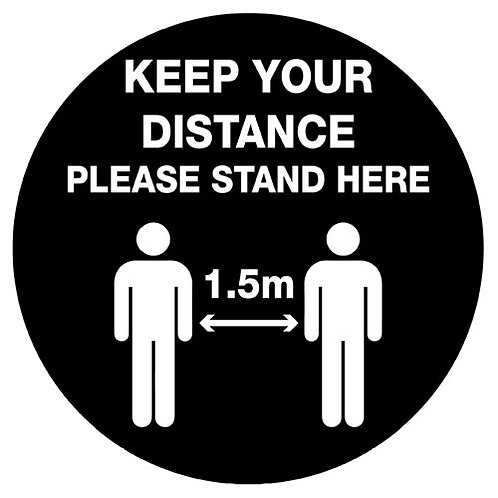 Keep your distance floor graphic