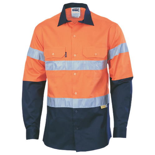Long_Sleeve_Cotton_Drill_Shirt_with_Tape_Gearup_Online