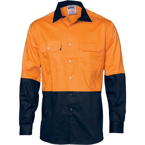 Long Sleeve Cotton Drill Shirt