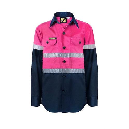 Kids Pink Lightweight L/S Shirt with Tape