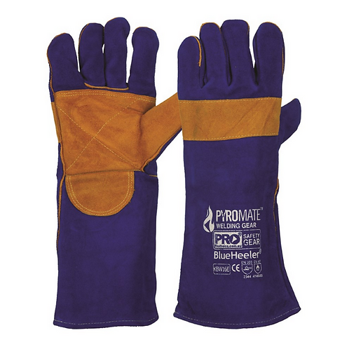 Welders Glove - Blue/Gold