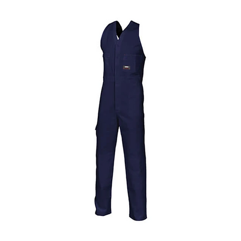 Cotton Drill Action Back Overalls