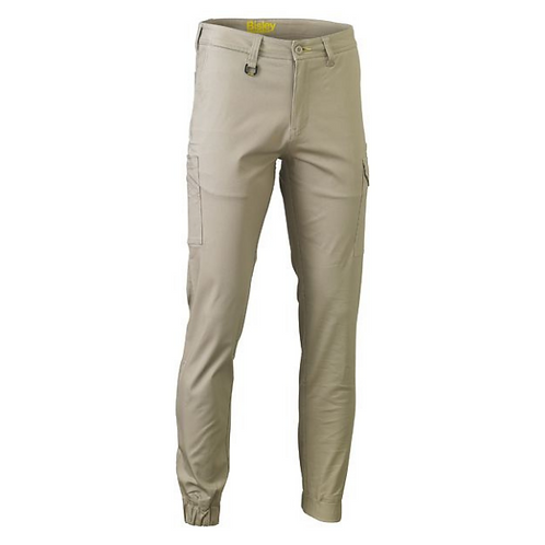 Cuffed Stretch Cotton Drill Cargo Pants