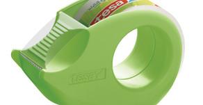 Mini-Abroller der Firma Tesa aus 100% wiederverwertetem Kunststoff
