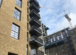 First balconies installed on McAleer & Rushe Wembley project