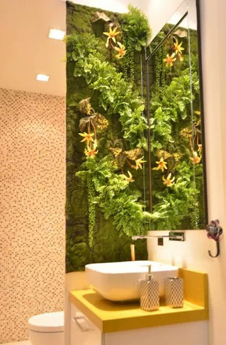 jardim vertical verdes variados