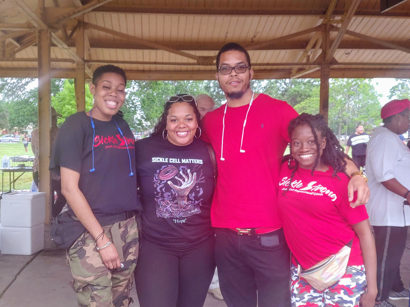 (From left to right) Kristian, Kristal, Dre, and Versetta