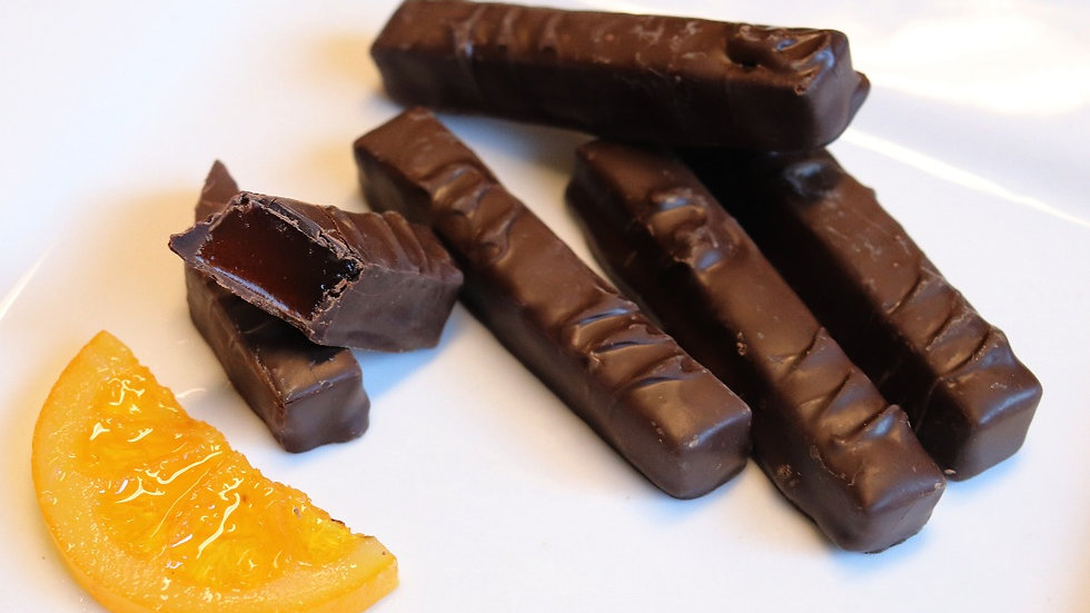 Chocolate Dipped Orange Sticks