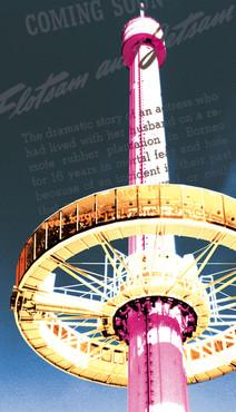 """Réaménagementintérieur à partir d'une nouvelle identité visuelle d'un restaurant.  Graphisme et mise en page, à partir d'un thème donné """"le pop art"""", et d'un logo réalisé par le directeur artistique : menus, cartes de bar, panneaux de signalétiques intérieures, travail calorimétriquesur des photos du site pour réaliser des tableaux.  Copyright Parc du Futuroscope 2010"""